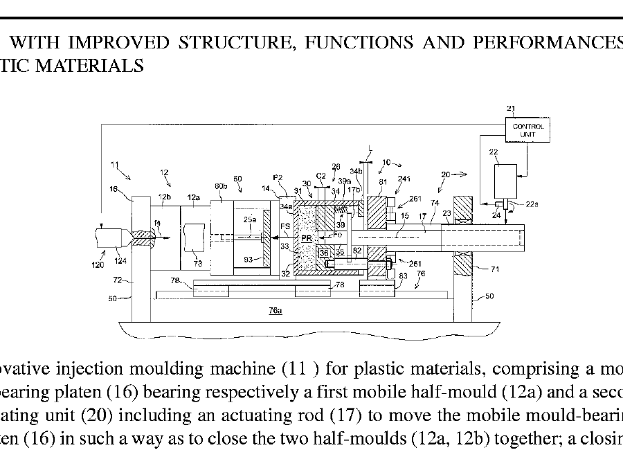 brevetti registrati moulding machine